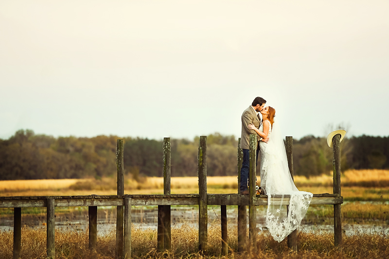 Wedding photo taken outside by Lisa Rowland Photography in Trenton, Florida